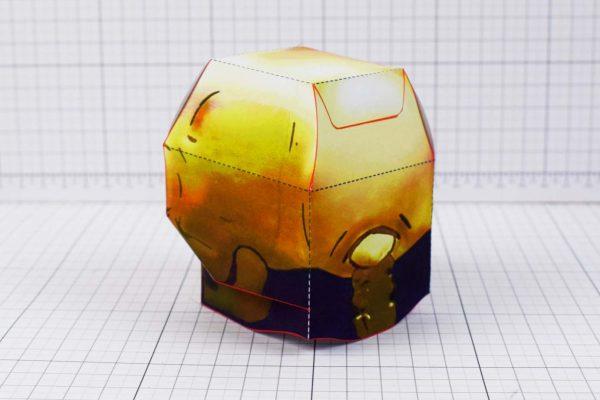 PTI - Halloween Skull Paper Toy - Back