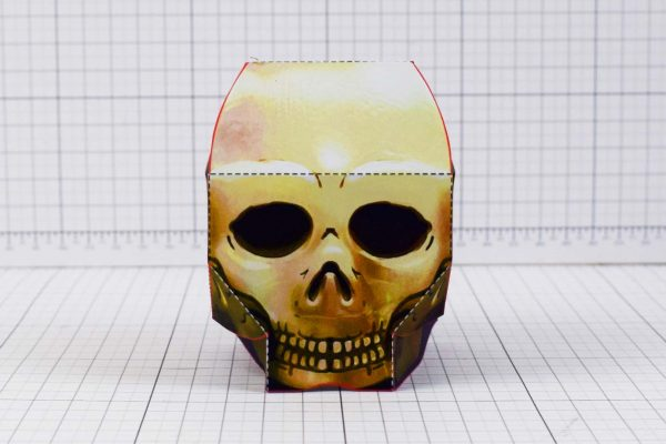 PTI - Halloween Skull Paper Toy - Front