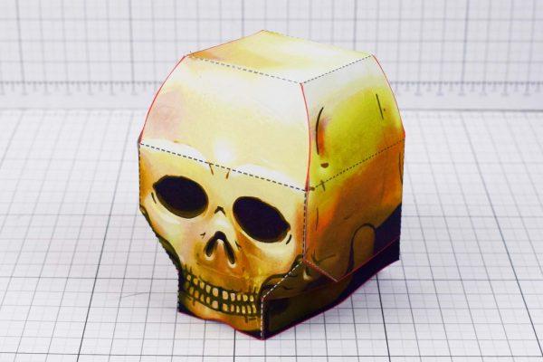 PTI - Halloween Skull Paper Toy - Main