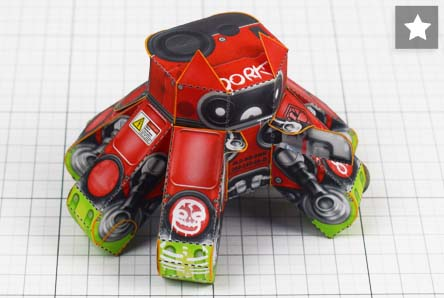 THU - Dork Droid Robot paper toy photo - Thumbnail