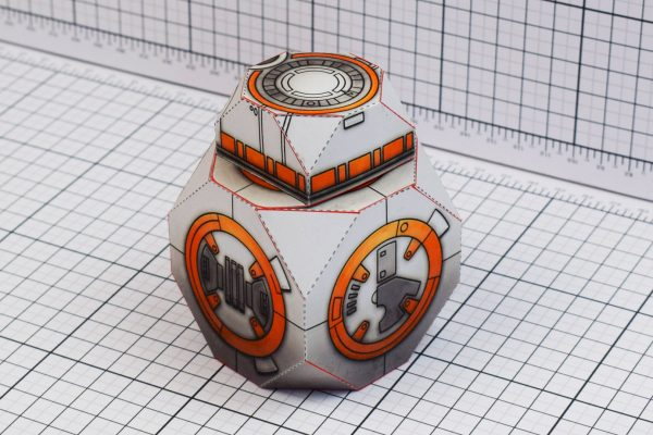 PTI BB-8 Droid Star Wars Paper Toy Back Image