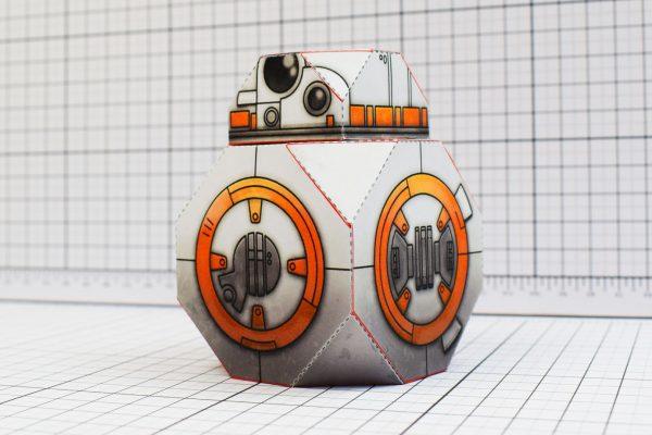 PTI BB-8 Droid Star Wars Paper Toy Tall Image