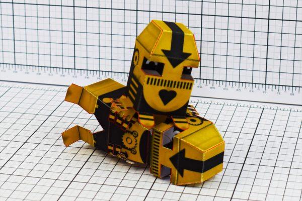 PTI Clink Klank Robot Paper Toy Pile Image