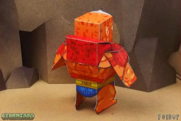 PTI Eternians Beast-Man Fan Art Paper Toy Back Image