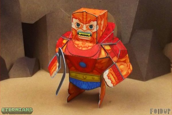 PTI Eternians Beast-Man Fan Art Paper Toy Side Image