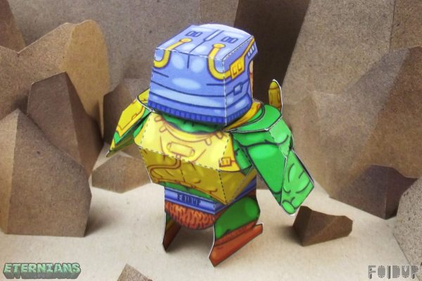PTI Eternians Man-At-Arms Fan Art Paper Toy Back Image