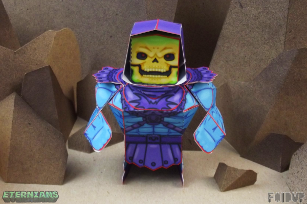 PTI Eternians Skeletor Fan Art Paper Toy Arms Image