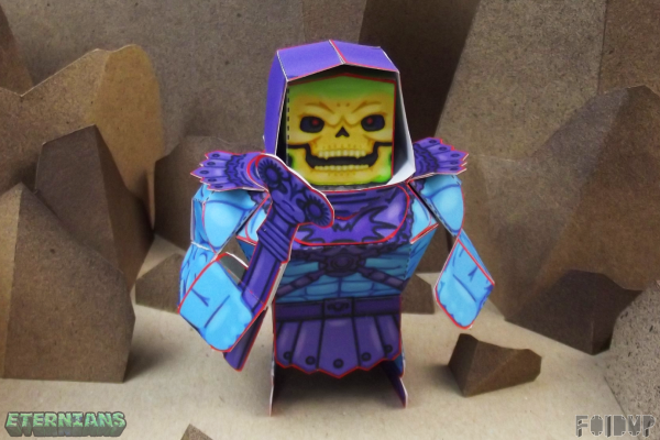 PTI Eternians Skeletor Fan Art Paper Toy Front Image