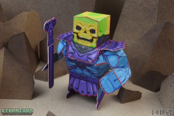 PTI Eternians Skeletor Fan Art Paper Toy Head Image