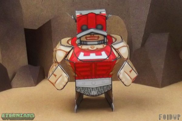 PTI Eternians Zodac Fan Art Paper Toy Arms Image
