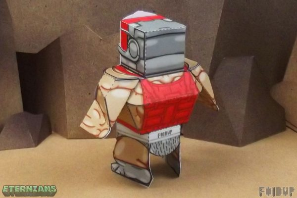 PTI Eternians Zodac Fan Art Paper Toy Back Image