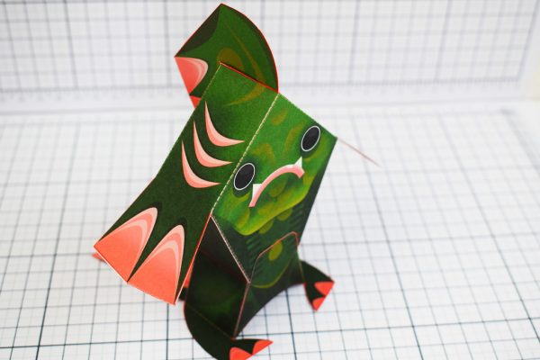 PTI Fingar Fish Monster Paper Toy Top Image