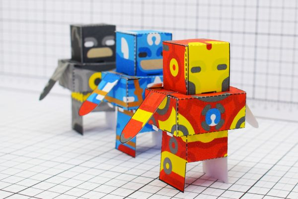 PTI Glueles Super Heroes Paper Toy Image Row