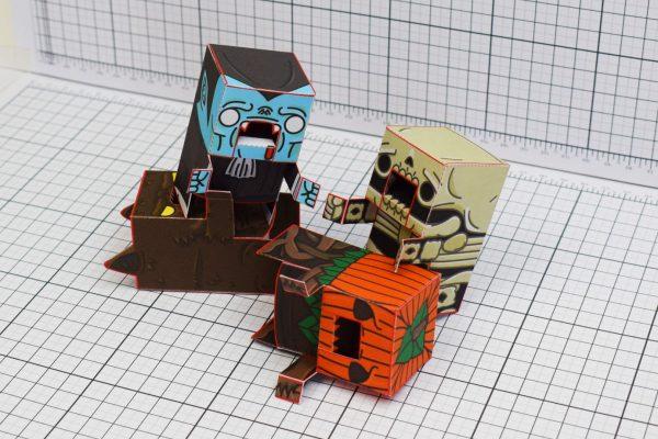 PTI Halloweenies Paper Toy Pile Image
