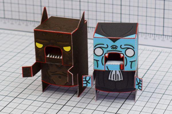 PTI Halloweenies Paper Toy Werewold Vampire Image