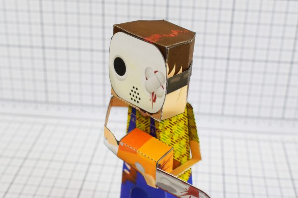 PTI Hockey Mask Murderer Paper Toy Close Image