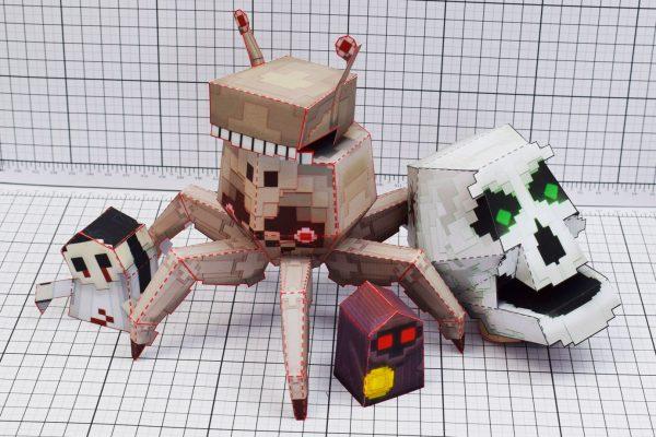 PTI Pixel Art Skull Crab Paper Toy Image Group