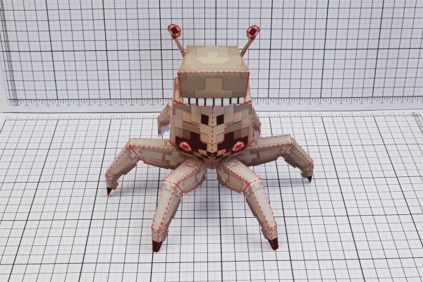 PTI Pixel Crab Paper Toy Image Front