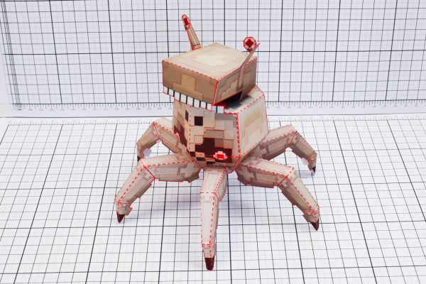 PTI Pixel Crab Paper Toy Image Main