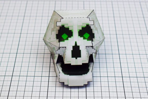 PTI Pixel Skull Paper Toy Image Front