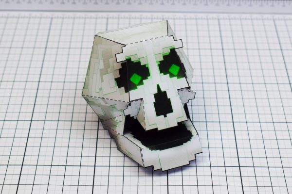 PTI Pixel Skull Paper Toy Image Main