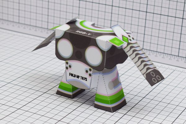 PTI RGB-Y Robot Paper Toy Back Image