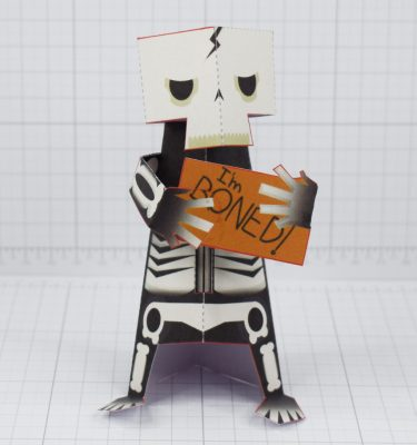 PTI- Skeletoon 2021 - Fold Up Toy - Front