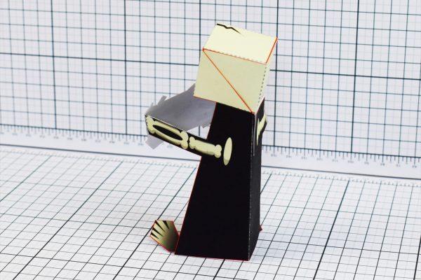 PTI Skeletoon Paper Toy Back Image