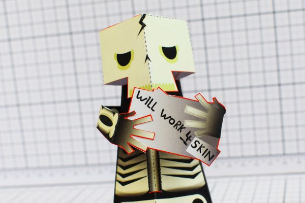 PTI Skeletoon Paper Toy Close Image