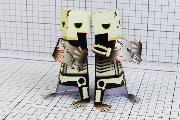 PTI Skeletoon Paper Toy Two Image