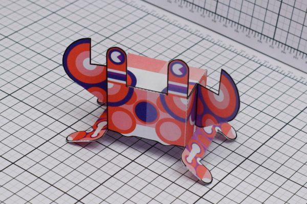 PTI Stag Crab Paper Toy Crab Image