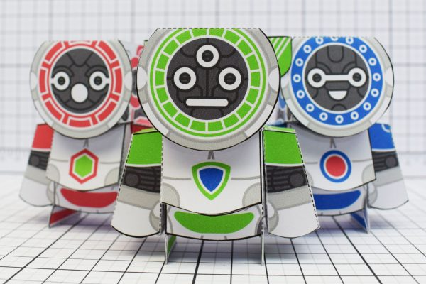 PTI UPC Robot Group Paper Toy Close Image