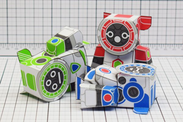 PTI UPC Robot Group Paper Toy Fall Image