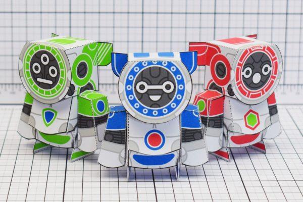 PTI UPC Robot Group Paper Toy Main Image