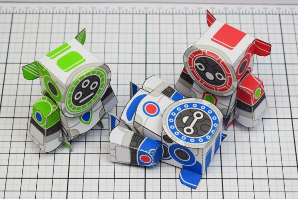 PTI UPC Robot Group Paper Toy Top Image