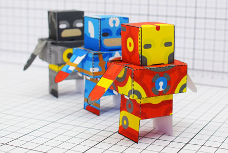 THU Glueles Super Heroest Paper Toy Single Thumbnail