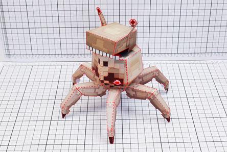 THU Pixel Skull Crab Paper Toy Single Thumbnail