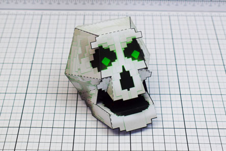 THU Pixel Skull Paper Toy Single Thumbnail