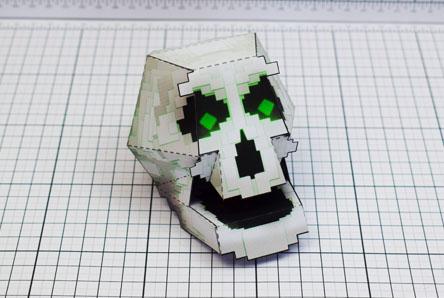THU Pixel Skull Paper Toy Single Thumbnail