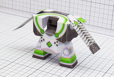 THU RBG-Y Robot Paper Toy Single Thumbnail