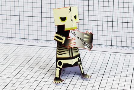 THU Skeletoon Paper Toy Single Thumbnail