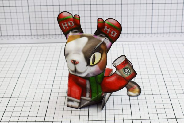 PTI Creationist Cat Christmas Paper Toy Image Front