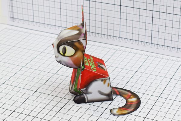 PTI Creationist Cat Christmas Paper Toy Image Side