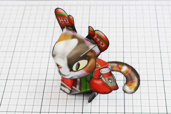 PTI Creationist Cat Christmas Paper Toy Image Top