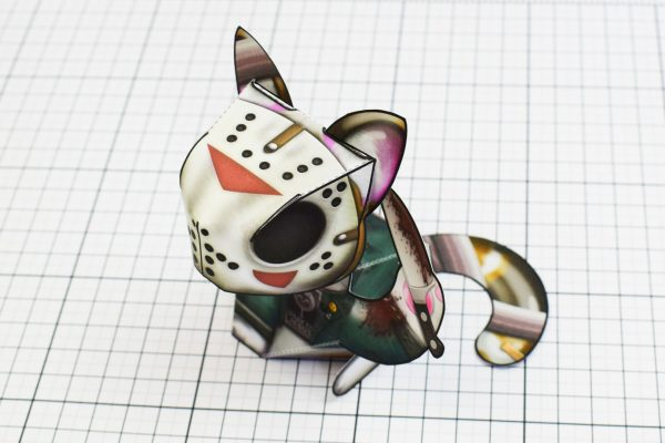 PTI Creationist Cat Halloween Paper Toy Image Top