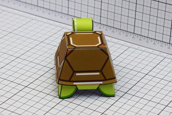 PTI Happy Turtle Paper Toy Image Back