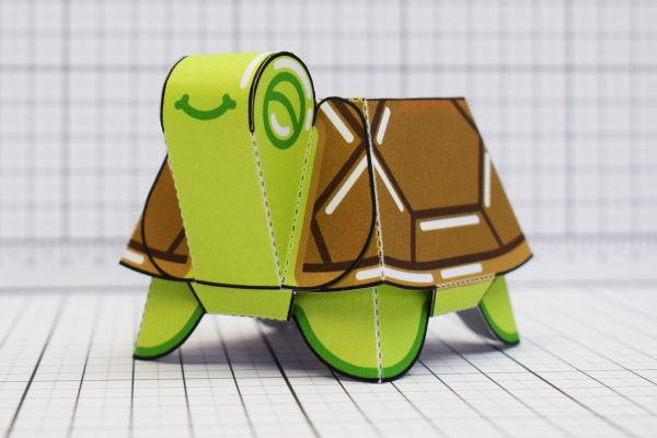 PTI Happy Turtle Paper Toy Image Close
