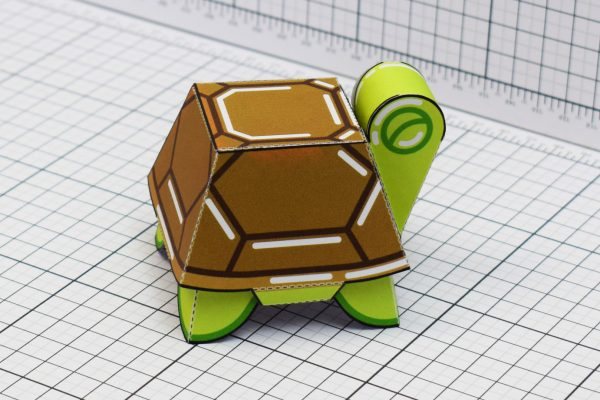 PTI Happy Turtle Paper Toy Image Side