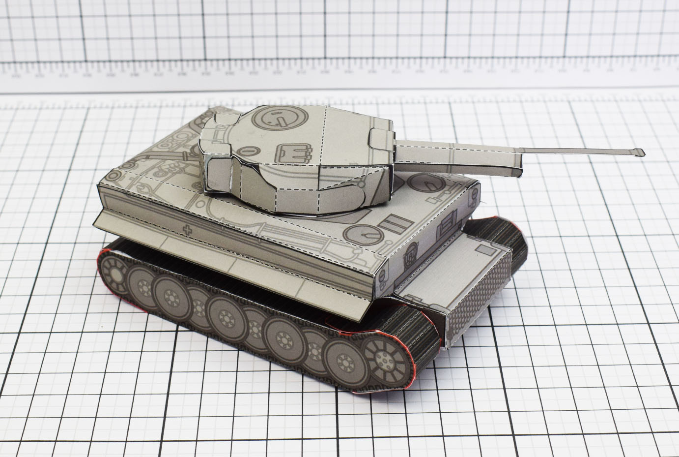PTI History Tank Tiger Abteilung Paper Toy Image Main