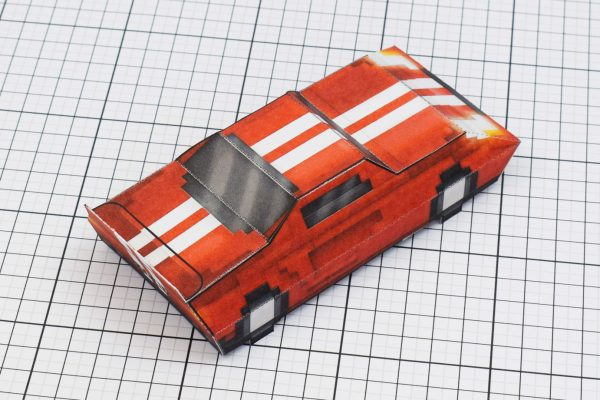 PTI Pixel Maximum Car Lord-GT Paper Toy Image Back